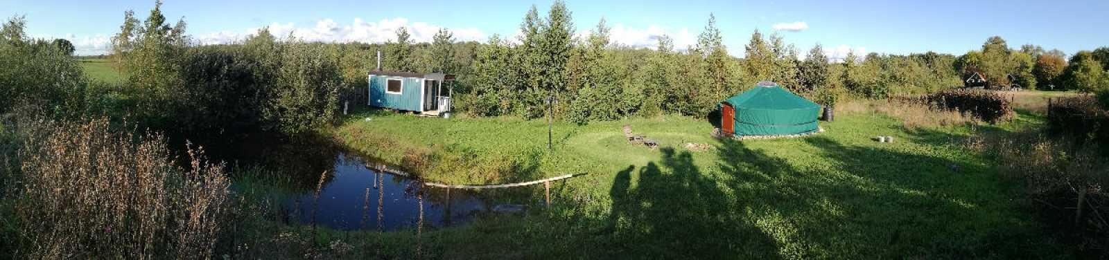 saunaterrein sauna yurt bij bed en breakfast vakantiehuisje molenbergh in zuidwest drenthe