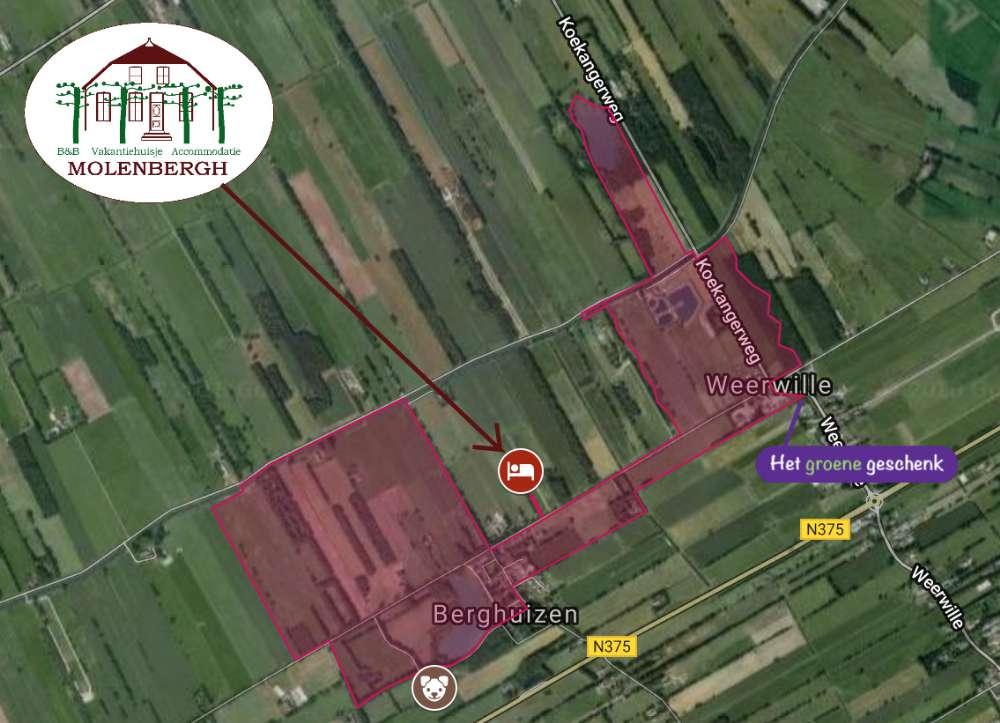 Wandelroute Berghuizen Weerwille Maps Molenbergh