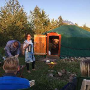bij yurt BedBreakfast Molenbergh Ruinerwold