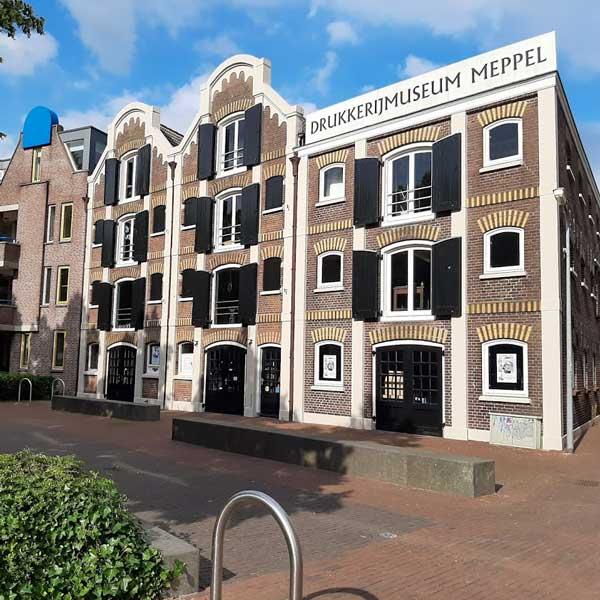 drukkerijmuseum meppel 8 km vanaf bed en breakfast vakantiehuisje molenbergh in zuid west drenthe