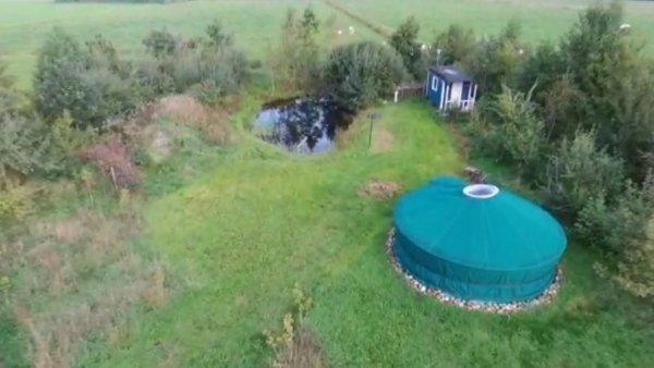yurt en sauna in natuurgebied bij bed en breakfast vakantiehuisje drenthe