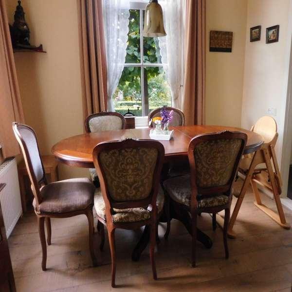 eetkamer 6 personen bed breakfast vakantiehuisje molenbergh zuidwest drenthe