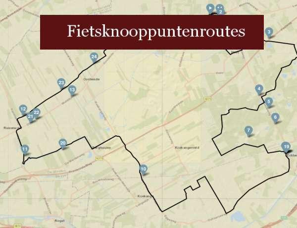fietstocht heerlijkheid ruinen loopt langs bed en breakfast molenbergh vakantiehuisje molenbergh zuidwestdrenthe