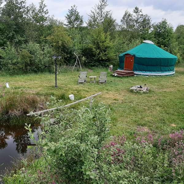 yurt voor 2 personen bij bed en breakfast vakantiehuisje molenbergh in zuidwest drenthe