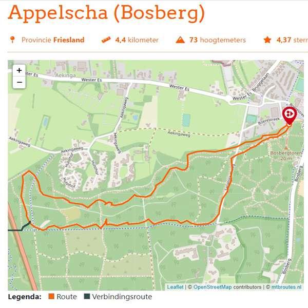 Appelscha Bosberg mountainbikeroute 1