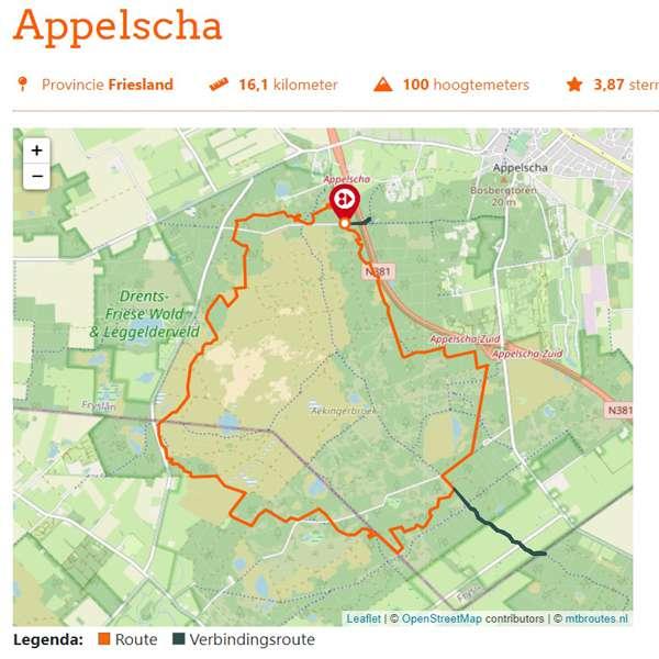 Appelscha mountainbikeroute