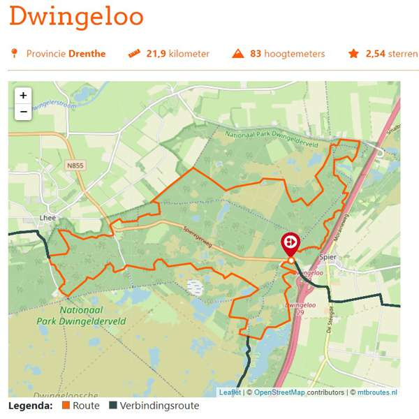 Dwingeloo mountainbikeroute