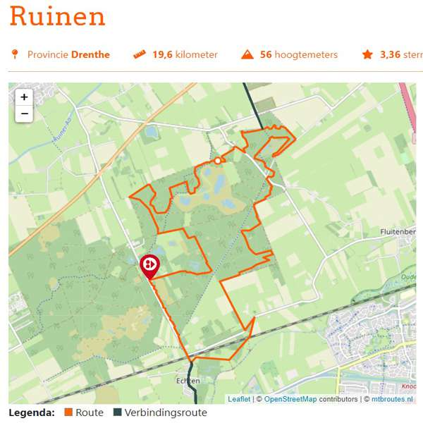 Ruinen mountainbikeroute