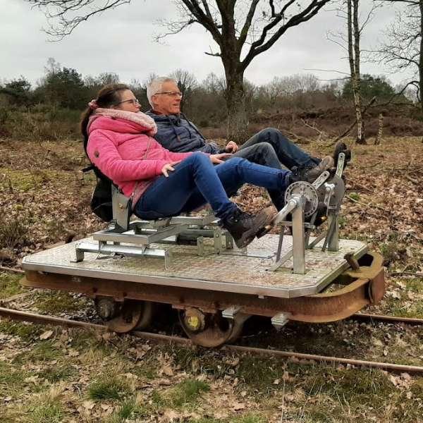 Fietsen op de rails 10 km vanaf Molenbergh vakantiehuisje Drenthe